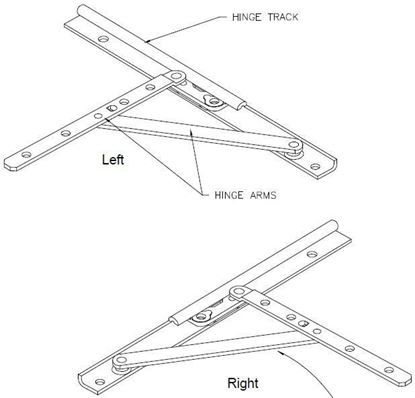 Picture of Caradco Casement Hinge Set CC105