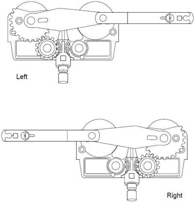 Picture of Pozzi Operator Dyad-Arm For Frame Width Less Than 23 Inches PC102