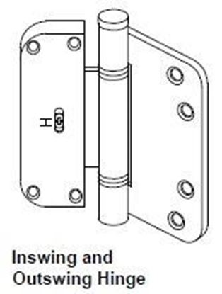 Picture of Pozzi Swing Door Adjustable (Horizontal) Hinge PH107