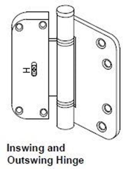 Picture of Pozzi Swing Door Adjustable (Horizontal) Hinge PH107