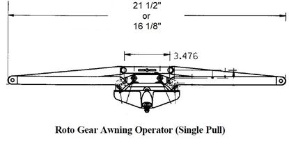 Picture of Caradco Awning Operator and Keeper CA101