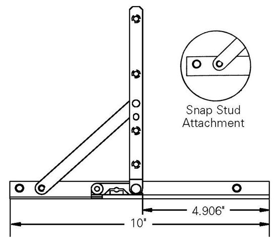 """Picture of Caradco Awning  Adjustable Hinge and 10"""" Track Set CA105"""
