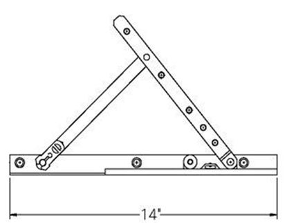 """Picture of Caradco Awning Adjustable Hinge and 14"""" Track Set CA106"""