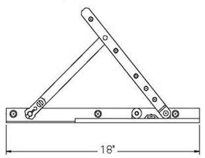 """Picture of Caradco Awning Adjustable Hinge and 18"""" Track Set CA107"""
